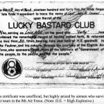 Lucky Bastard Club Card